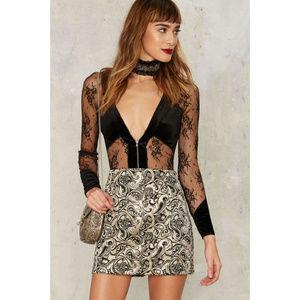 NASTY GAL Constantine Jacquard Mini Skirt